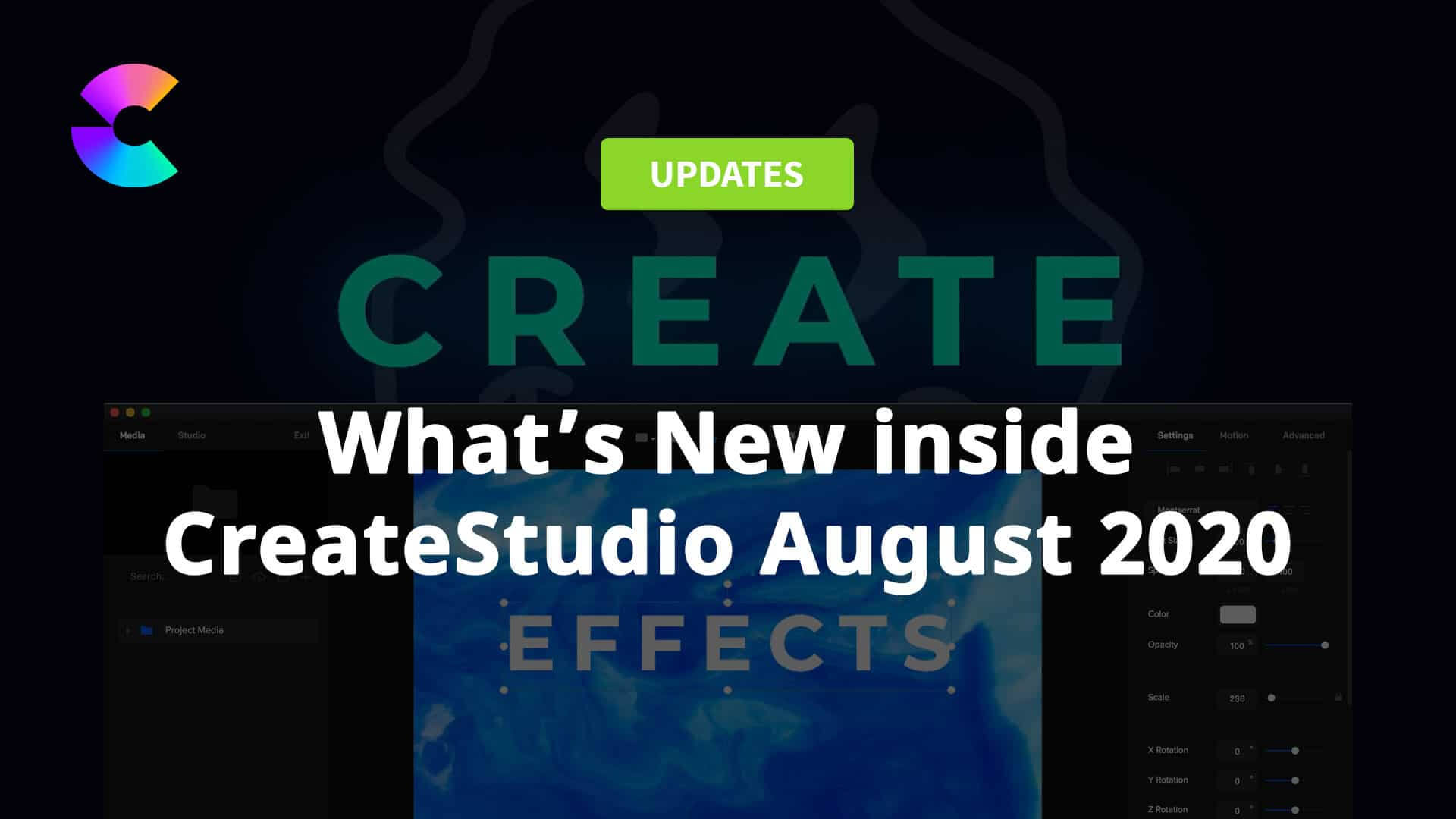 CreateStudio August 2020 Updates