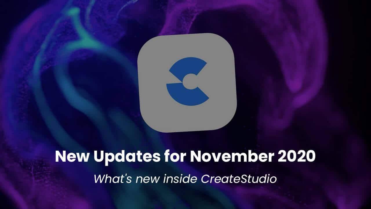 november update createstudio